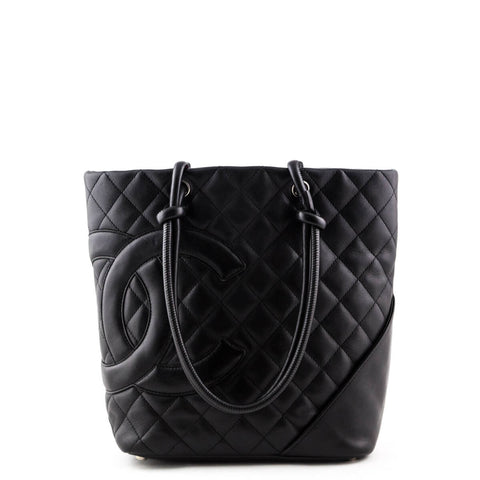 Chanel Black Calfskin Medium Cambon Ligne Bucket Tote