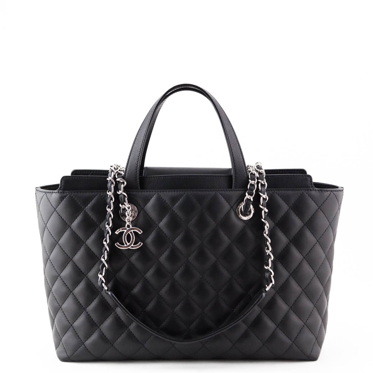 46610b486b57 Chanel Black Calfskin Shopping Tote - LOVE that BAG - Preowned Authentic  Designer Handbags ...