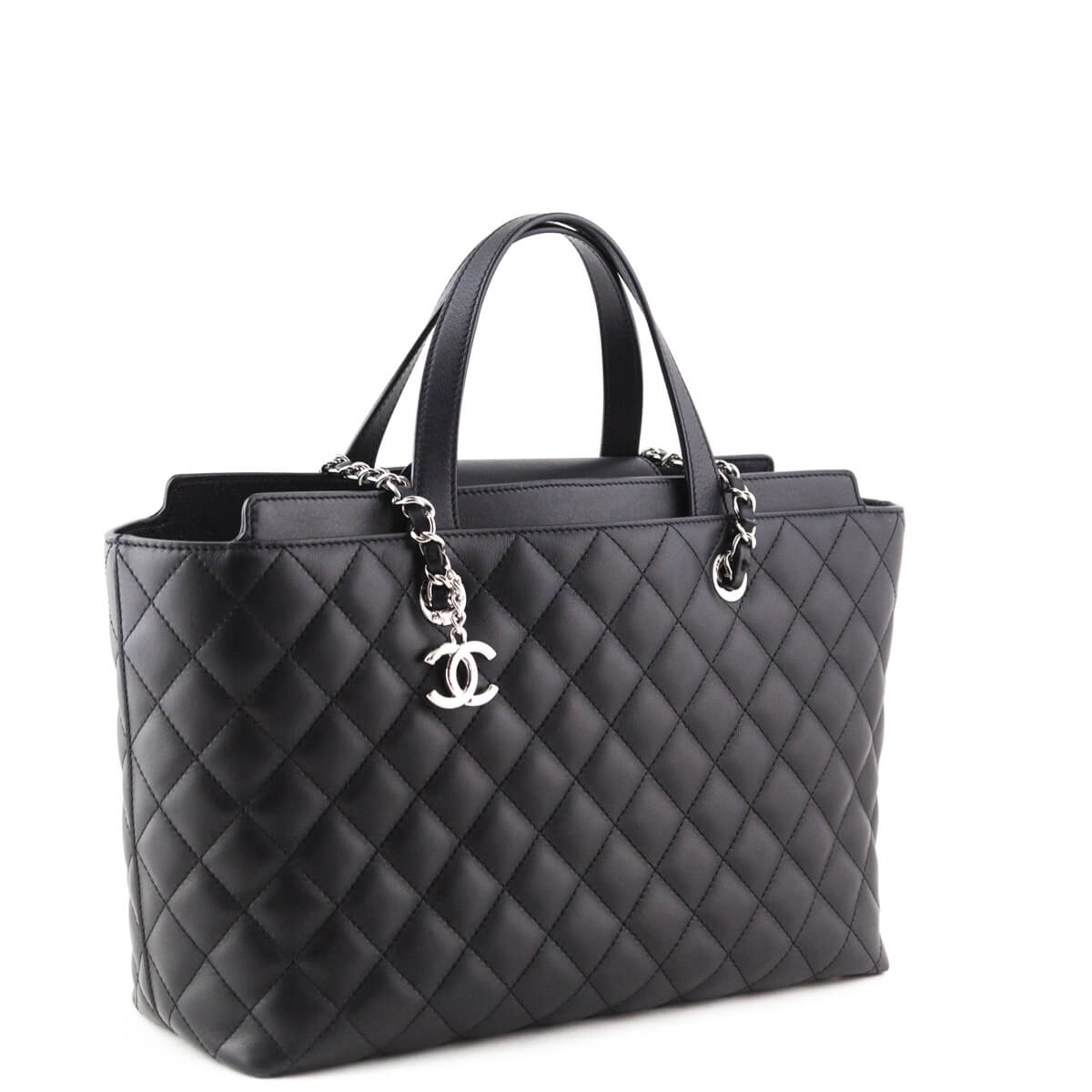 ... Chanel Black Calfskin Shopping Tote - LOVE that BAG - Preowned  Authentic Designer Handbags ... dc19d59174546