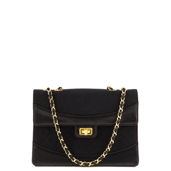 Chanel Black Canvas Vintage Chain Flap Bag - LOVE that BAG - Preowned  Authentic Designer Handbags 05345dbc8