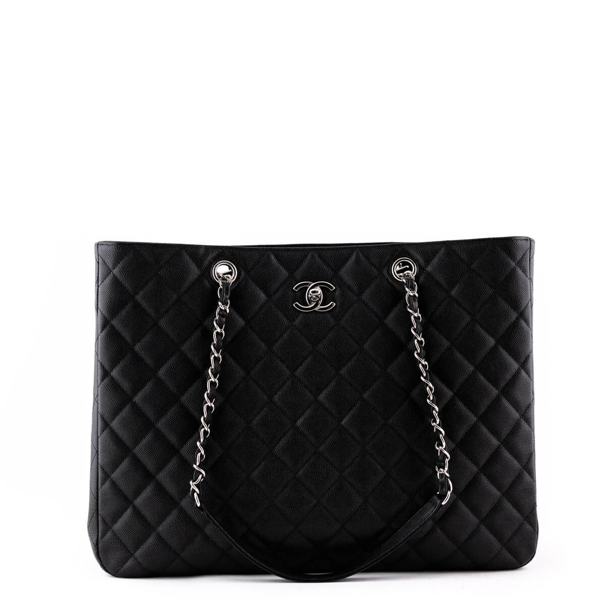 49749cf22a5d6f Chanel Black Caviar 2018 Timeless Tote SHW - LOVE that BAG - Preowned  Authentic Designer Handbags ...