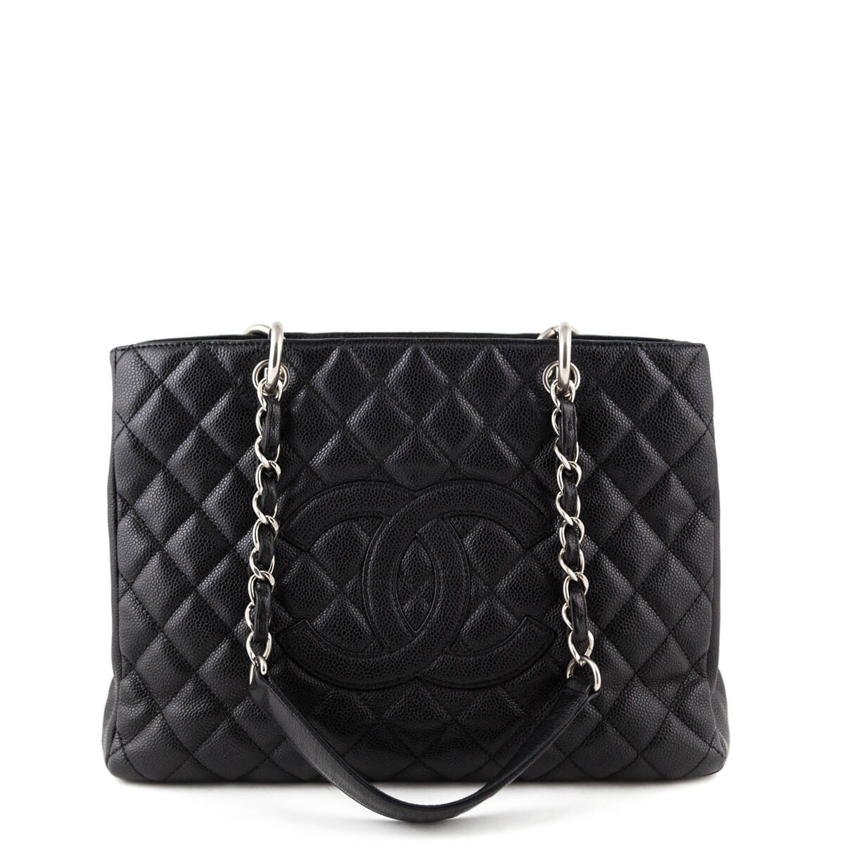 a34a827b37fa Chanel Black Caviar Grand Shopping Tote SHW - LOVE that BAG - Preowned  Authentic Designer Handbags ...