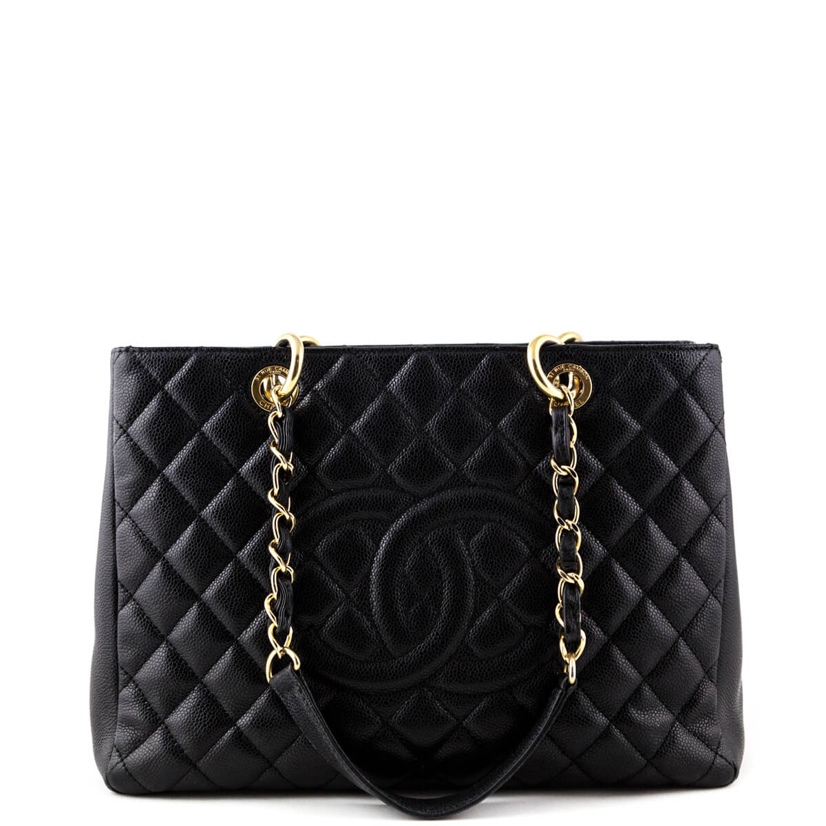 35bccf5d0259 Chanel Black Caviar Grand Shopping Tote GST GHW - LOVE that BAG - Preowned  Authentic Designer ...