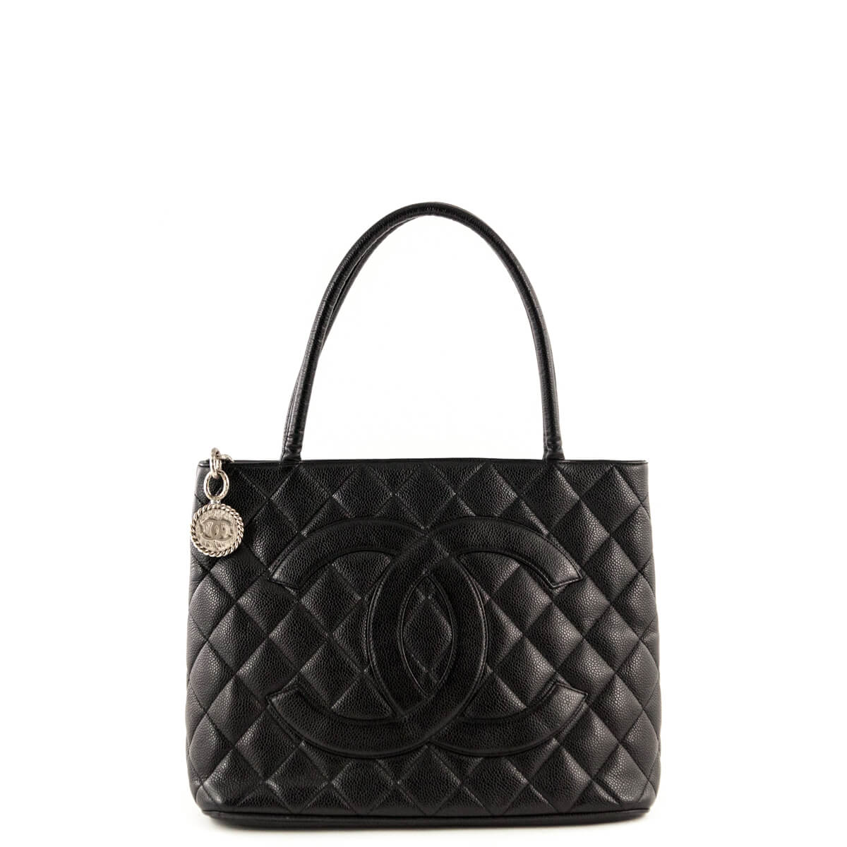 Chanel Black Caviar Medallion Tote - LOVE that BAG - Preowned Authentic  Designer Handbags ... 3bd61ee8f0906