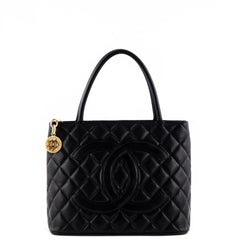 Chanel Black Caviar Medallion Tote