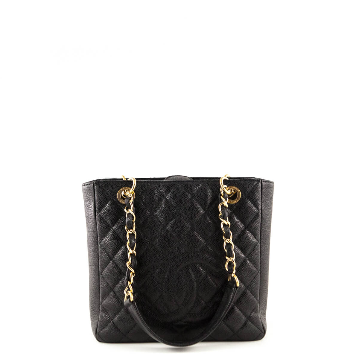 1a3ab5783266 Chanel Black Caviar Petit Shopping Tote GHW - LOVE that BAG - Preowned  Authentic Designer Handbags ...