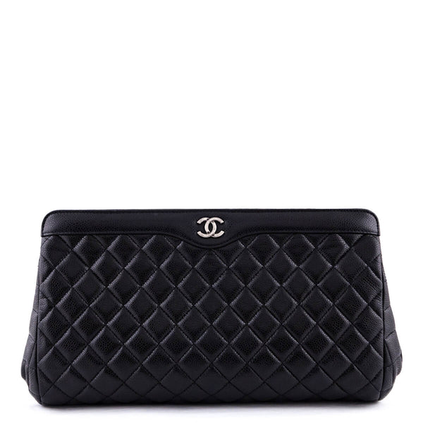 dd322130a4e9 Chanel Black Caviar Quilted CC Frame Clutch - LOVE that BAG - Preowned  Authentic Designer Handbags