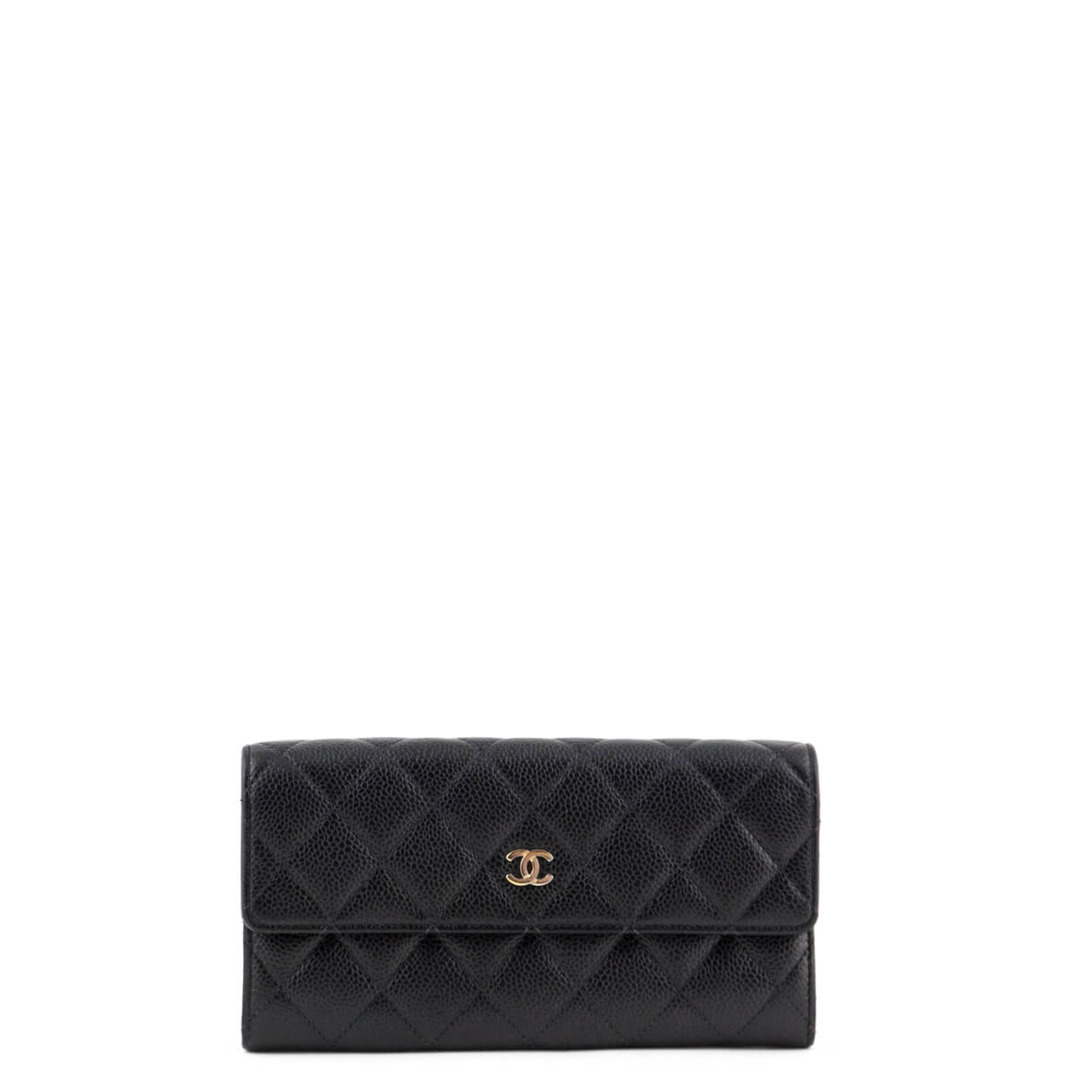 250bc49d2c84 Chanel Black Caviar Quilted Flap Wallet SHW - LOVE that BAG - Preowned  Authentic Designer Handbags ...