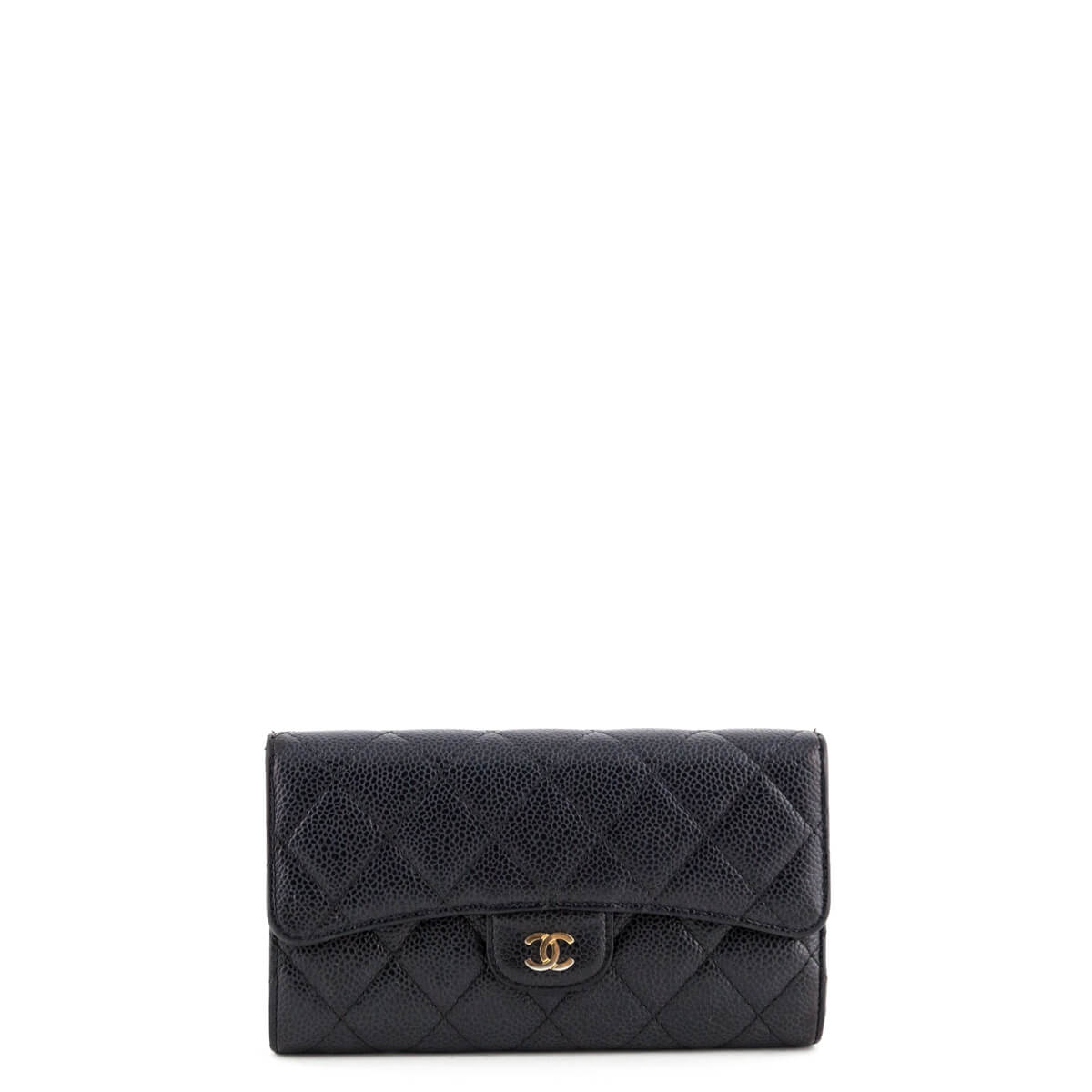 1cc14d4cb0cd Chanel Black Caviar Quilted Large Flap Wallet - LOVE that BAG - Preowned  Authentic Designer Handbags ...