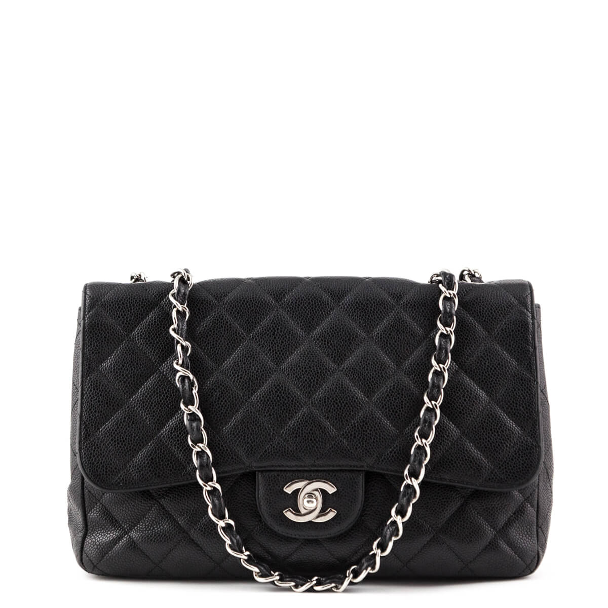 80be67941e27 Chanel Black Caviar Single Flap Jumbo Bag - LOVE that BAG - Preowned  Authentic Designer Handbags ...