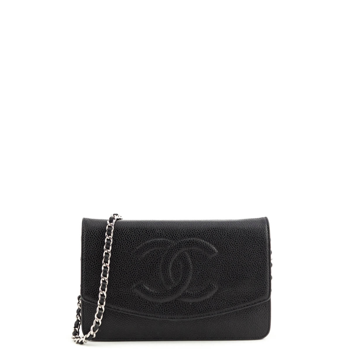1bac3eb855f9a4 Chanel Black Caviar Timeless CC Wallet on Chain SHW - LOVE that BAG -  Preowned Authentic ...
