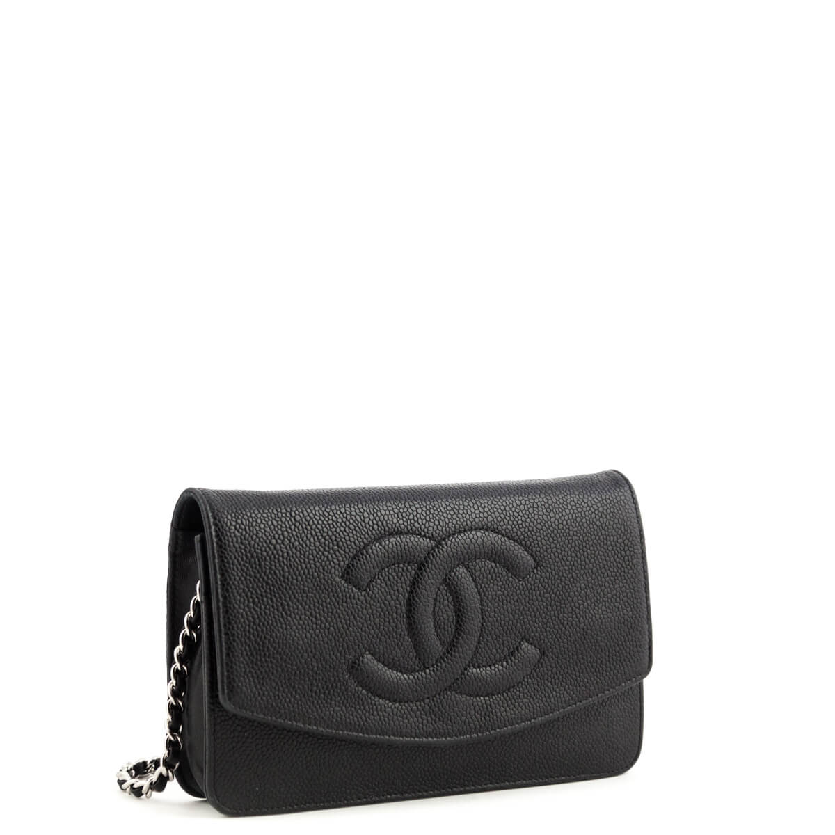 a7f93b0c43c4 ... Chanel Black Caviar Timeless CC Wallet on Chain SHW - LOVE that BAG -  Preowned Authentic ...