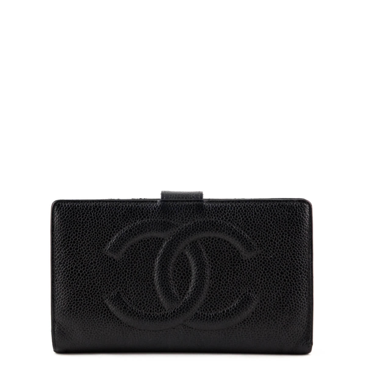 e3488bb3721b Chanel Black Caviar Vintage CC Timeless French Purse Wallet - LOVE that BAG  - Preowned Authentic ...