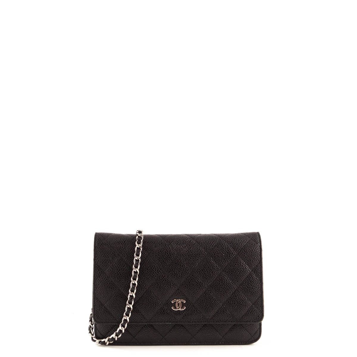 18fa8d6ef93bd1 Chanel Black Caviar Wallet on Chain SHW - LOVE that BAG - Preowned  Authentic Designer Handbags ...