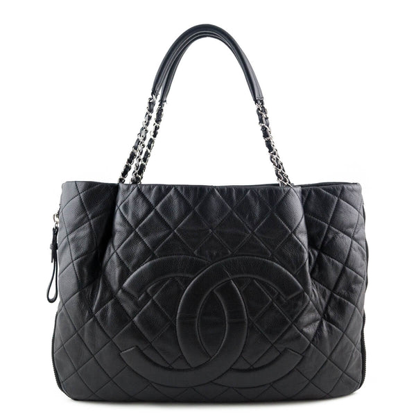 Chanel Black Caviar Zip Around Shopping Tote - LOVE that BAG - Preowned  Authentic Designer Handbags 7ee23615286f4