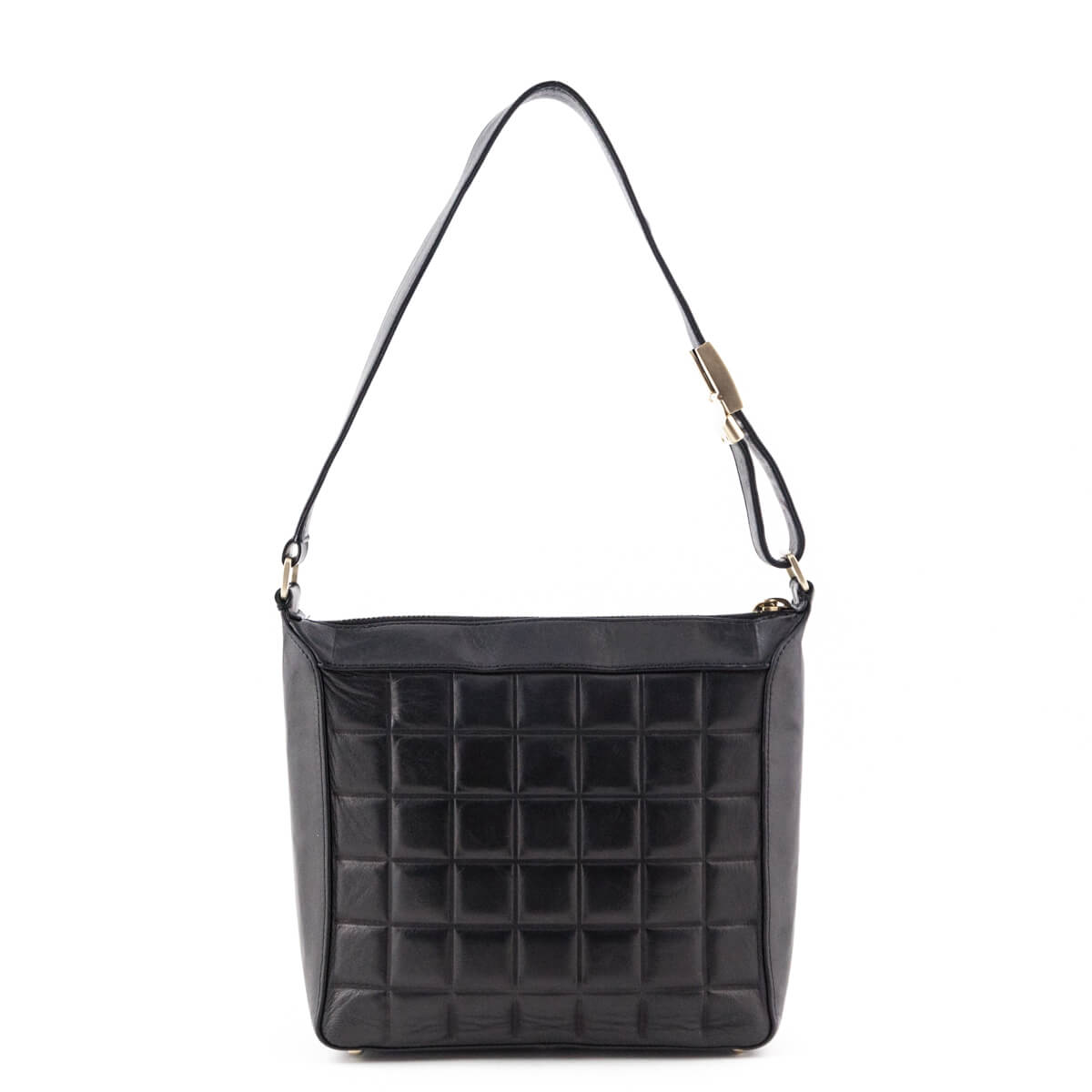 a030d2f16395 ... Chanel Black Lambskin CC Chocolate Bar Square Shoulder Bag - LOVE that  BAG - Preowned Authentic ...