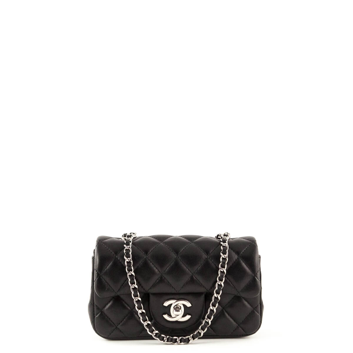 f034486431b5dc Chanel Black Lambskin Classic Extra Mini Flap Bag SHW - LOVE that BAG -  Preowned Authentic ...