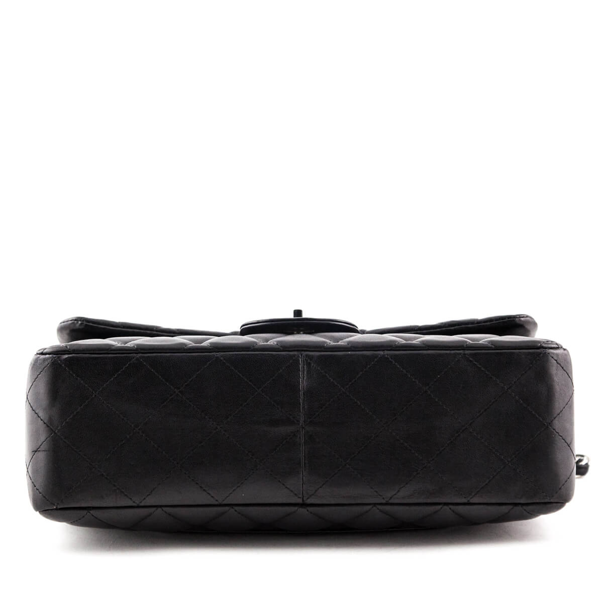 37902afbdfbf ... Chanel Black Lambskin Jumbo Classic Single Flap Bag SHW - LOVE that BAG  - Preowned Authentic ...