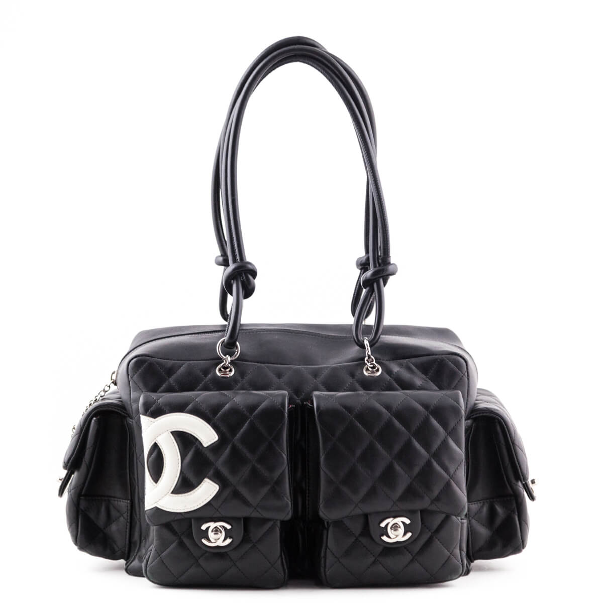 b864b0380ed6 Chanel Black Lambskin Quilted Cambon Pocket Tote - LOVE that BAG - Preowned  Authentic Designer Handbags ...