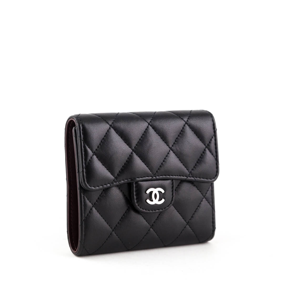 4f07dc6e149a ... Chanel Black Lambskin Small Bifold Wallet SHW - LOVE that BAG - Preowned  Authentic Designer Handbags ...