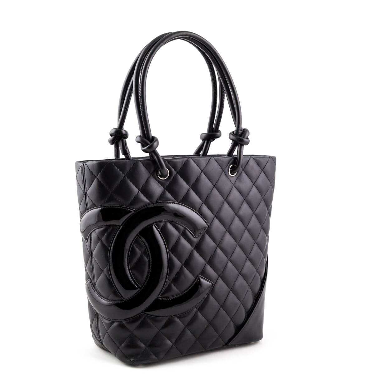 3be0b8fe5dd7 ... Chanel Black Lambskin Small Cambon Tote - LOVE that BAG - Preowned  Authentic Designer Handbags ...