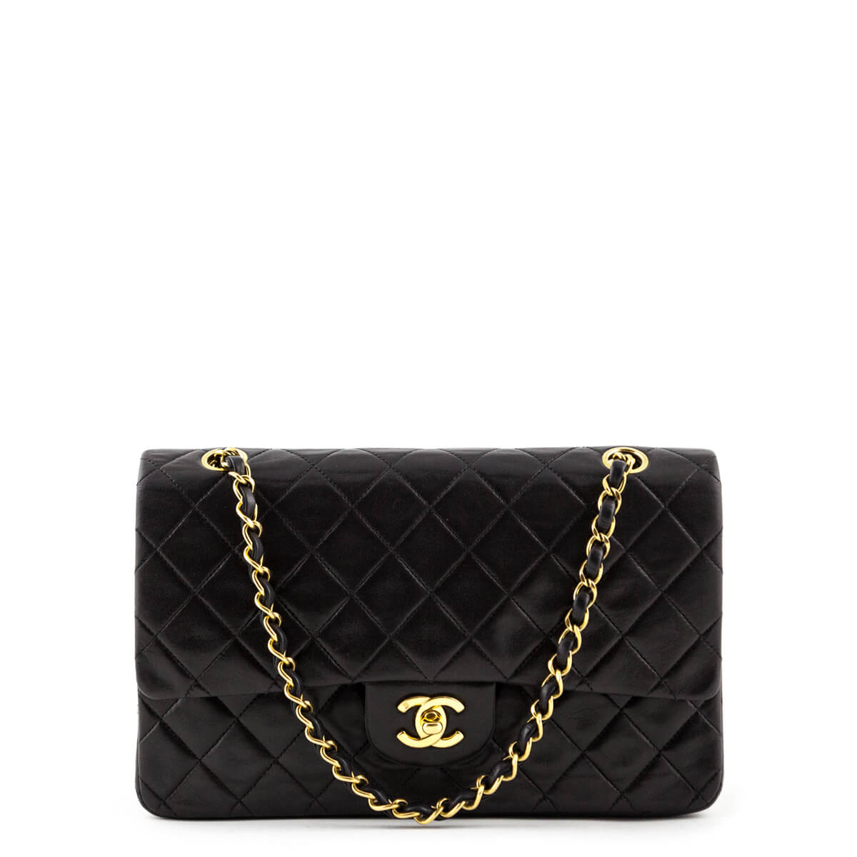 02db12ff2d4535 Chanel Black Lambskin Vintage Medium Classic Double Flap - LOVE that BAG -  Preowned Authentic Designer ...