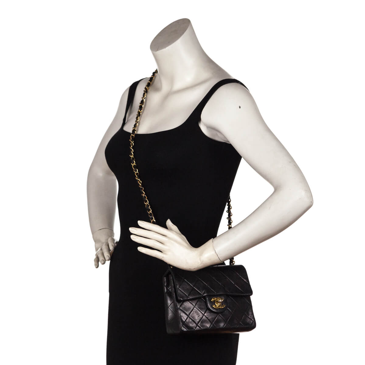 b4f7fdcdee31 ... Chanel Black Lambskin Vintage Mini Square Flap bag - LOVE that BAG -  Preowned Authentic Designer