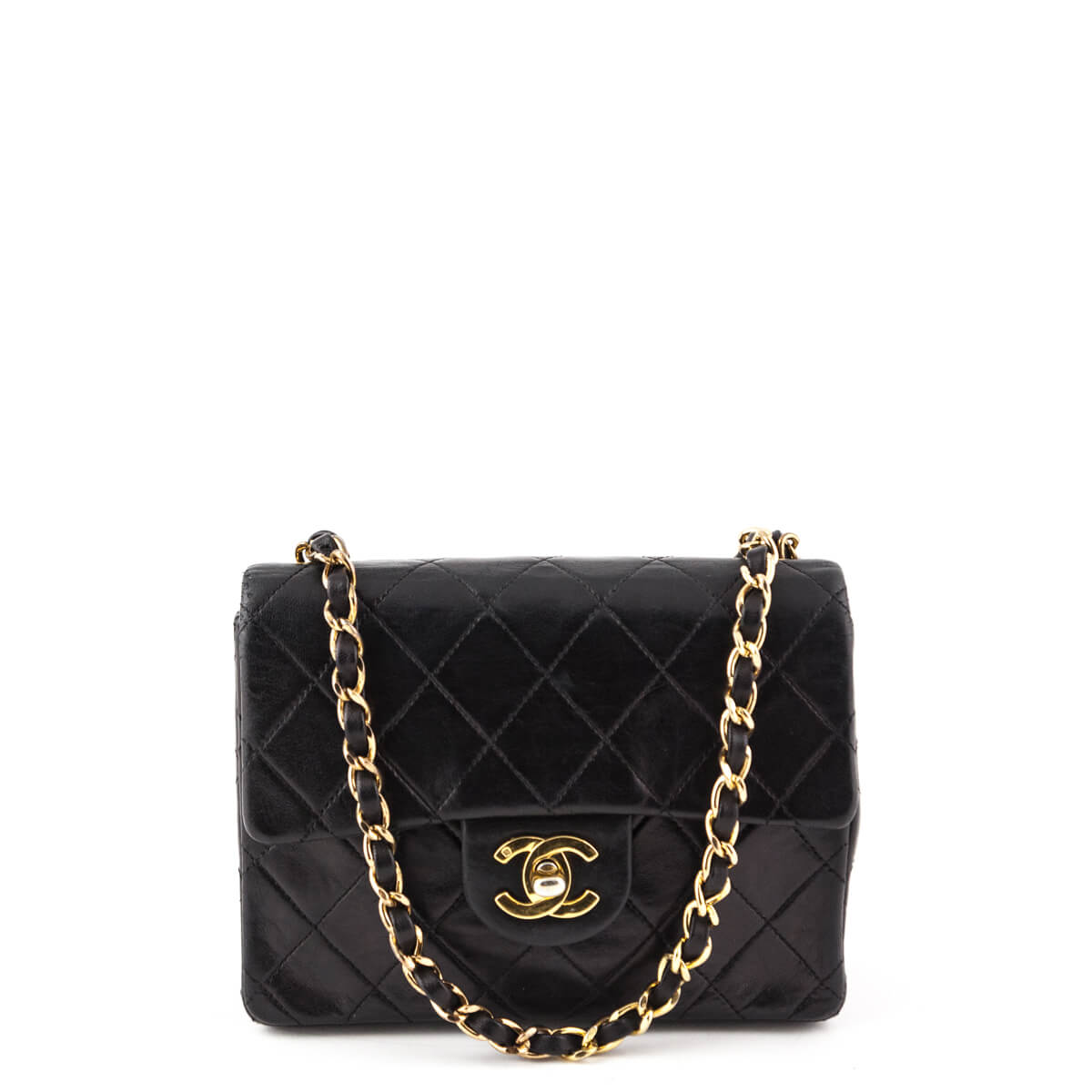 9b60082bc1b34e Chanel Black Lambskin Vintage Mini Square Flap bag - LOVE that BAG -  Preowned Authentic Designer ...