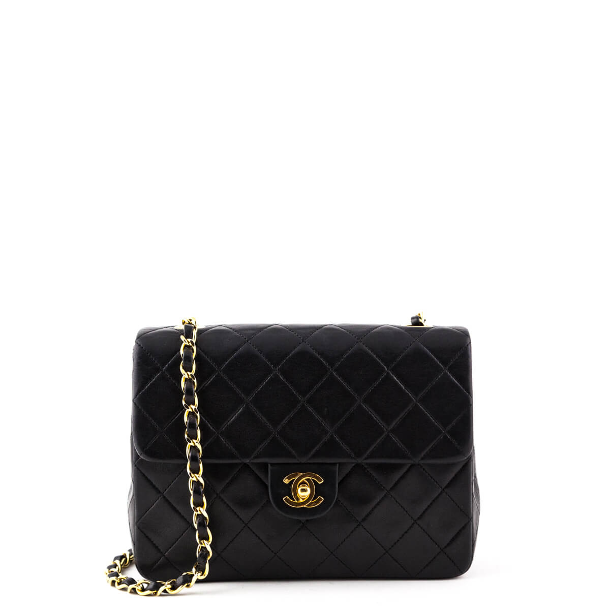 8bb1137abf72 Chanel Black Lambskin Vintage Mini Square Flap bag - LOVE that BAG -  Preowned Authentic Designer ...