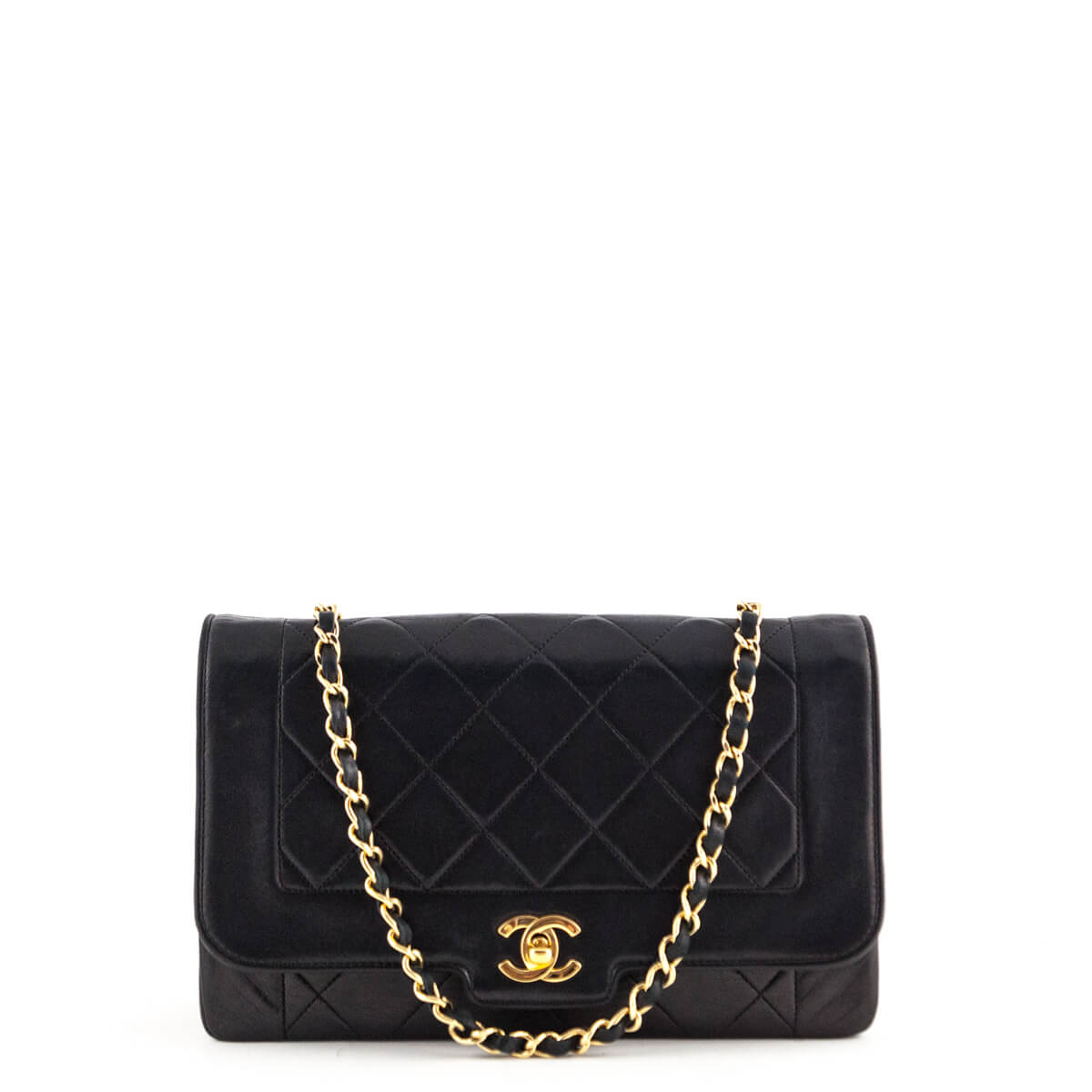 Chanel Black Lambskin Vintage Single Flap - LOVE that BAG - Preowned  Authentic Designer Handbags ... dc0d98b19311d