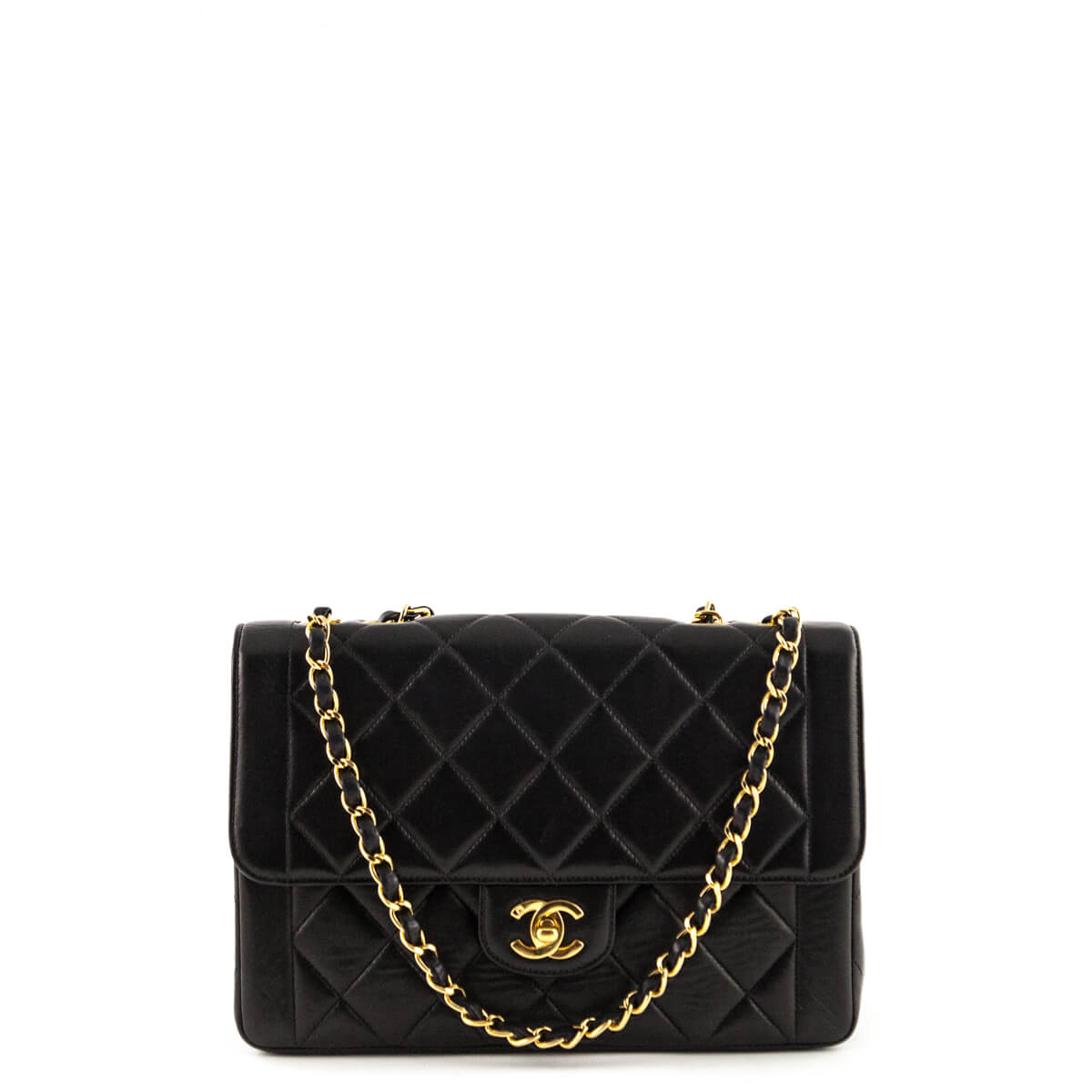 cba3d104644e01 Chanel Black Lambskin Vintage Single Flap Bag GHW - LOVE that BAG - Preowned  Authentic Designer ...