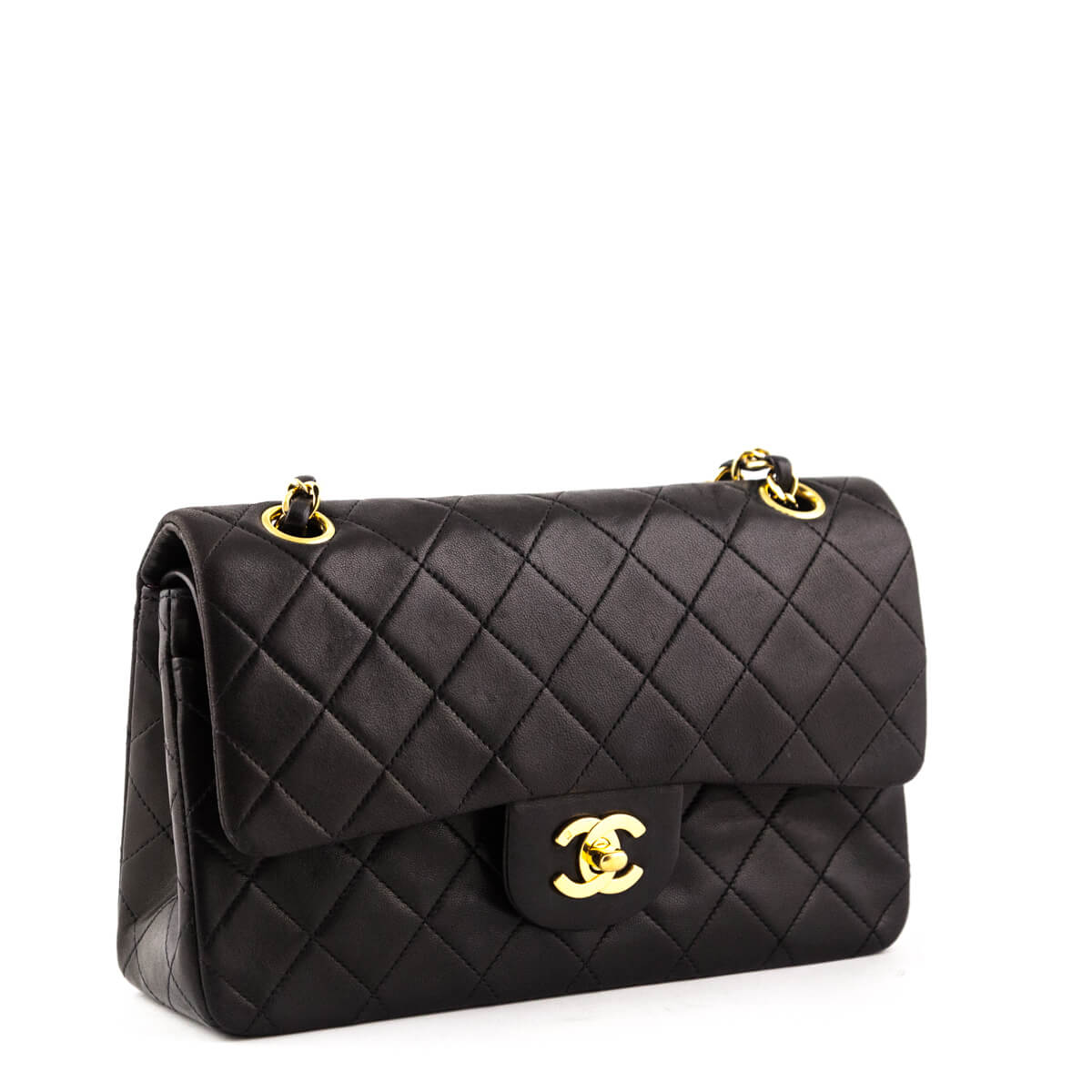 ... Chanel Black Lambskin Vintage Small Double Flap Bag GHW - LOVE that BAG  - Preowned Authentic ... 84ada61b268d9