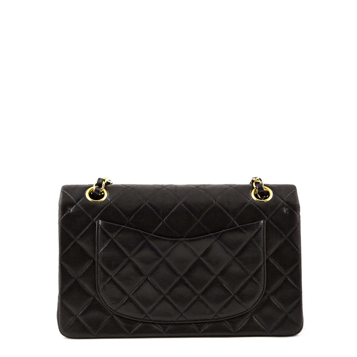 9e4072f8dda8 ... Chanel Black Lambskin Vintage Small Double Flap Bag GHW - LOVE that BAG  - Preowned Authentic ...