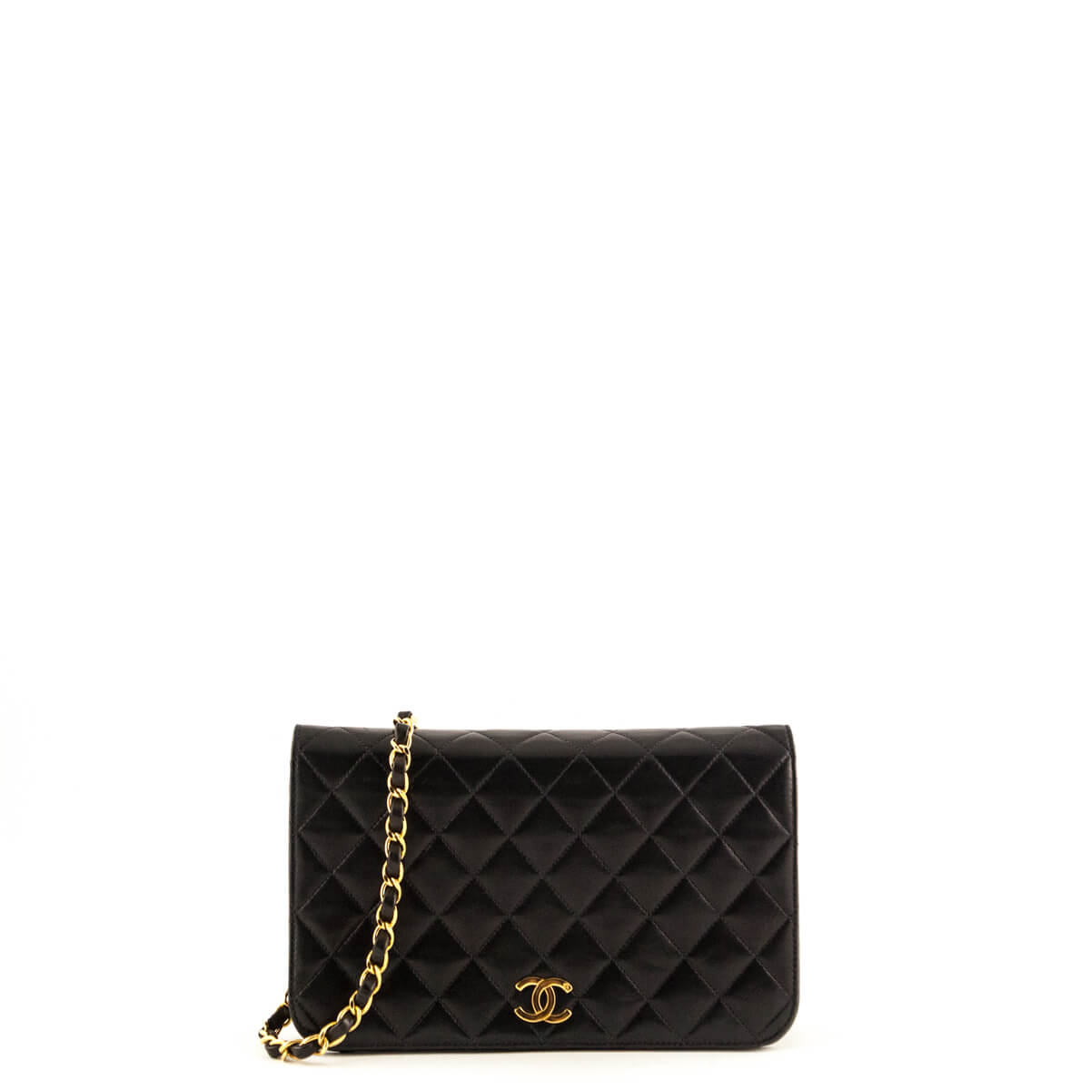 e21989a0442f Chanel Black Lambskin Vintage Small Single Flap GHW - LOVE that BAG -  Preowned Authentic Designer ...