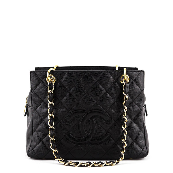 9497580e8663 Chanel Black Petit Timeless Shopping Tote - LOVE that BAG - Preowned  Authentic Designer Handbags