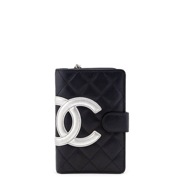 804e30a06c Chanel Black Quilted Calfskin Ligne Cambon Bi-fold Zip Wallet - LOVE that  BAG -
