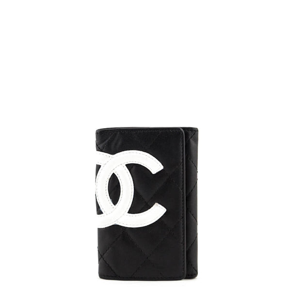 8f96913411e7 Chanel Black Quilted Calfskin Ligne Cambon Key Holder - LOVE that BAG - Preowned  Authentic Designer