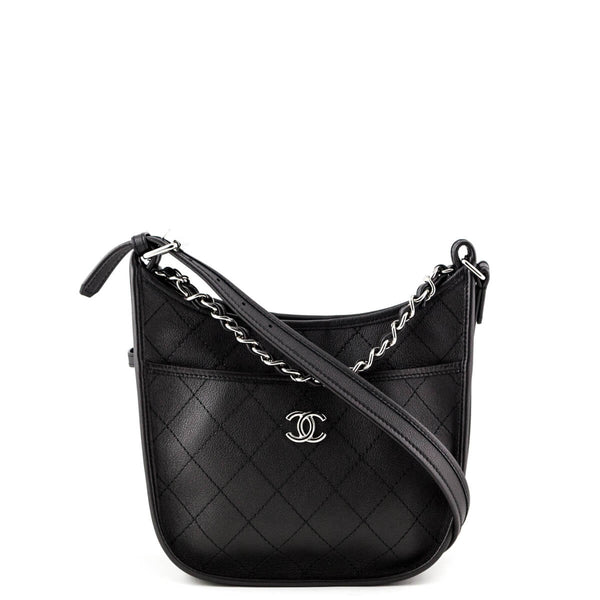 Chanel Black Quilted Calfskin Small Jungle Stroll Hobo Bag - LOVE that BAG  - Preowned Authentic a950c09b1