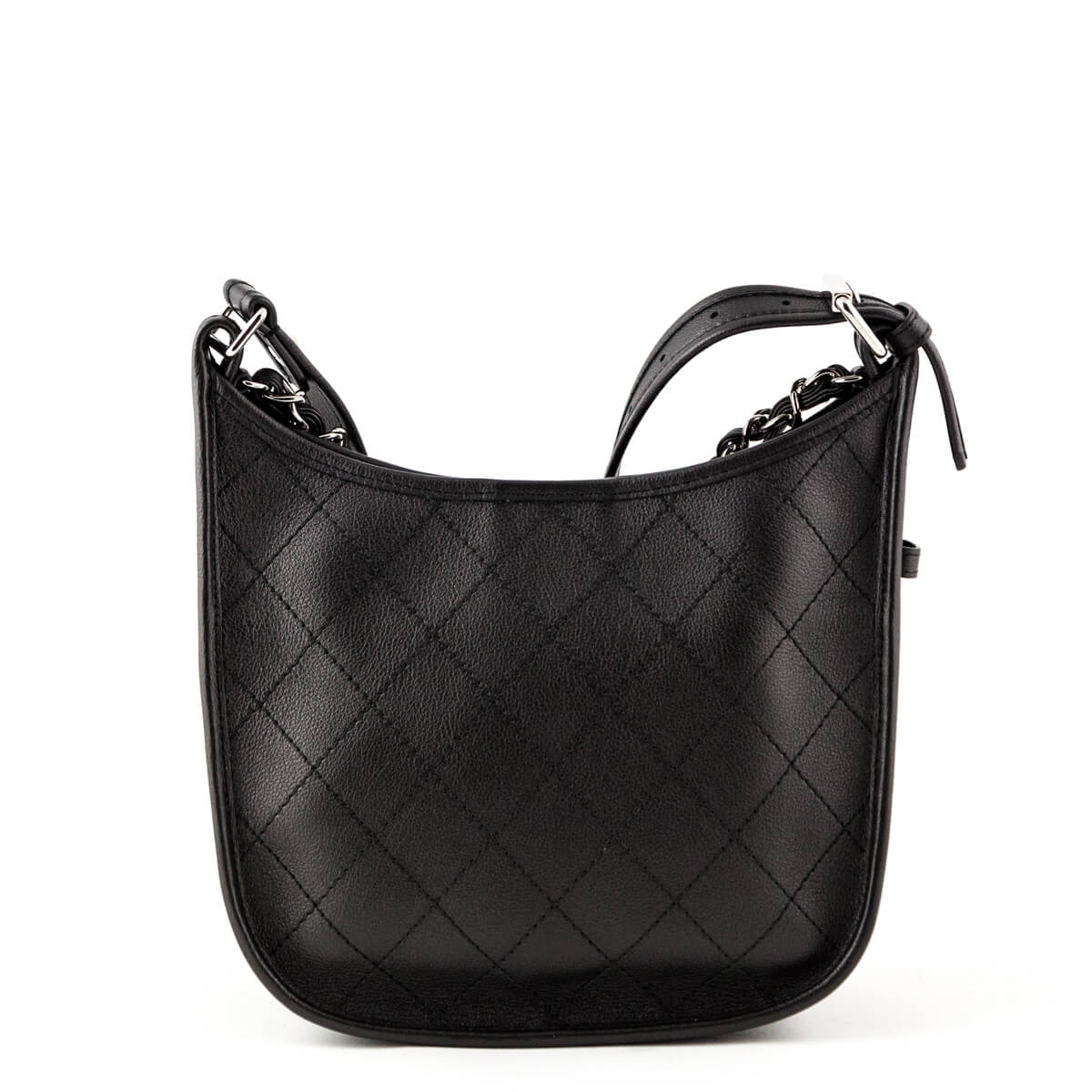 0143193f4 ... Chanel Black Quilted Calfskin Small Jungle Stroll Hobo Bag - LOVE that  BAG - Preowned Authentic ...