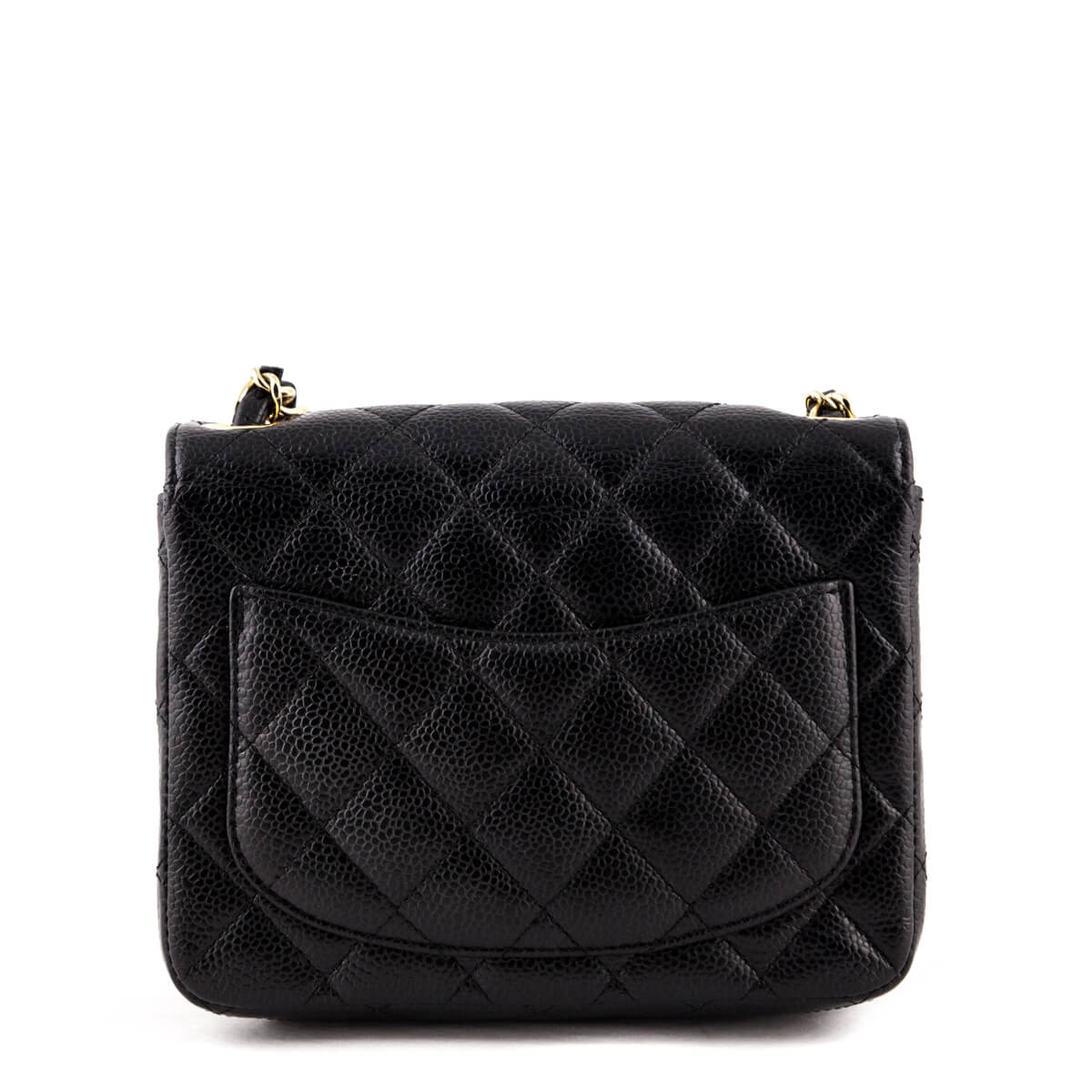 a11450646c73 ... Chanel Black Quilted Caviar Mini Square Flap Bag - LOVE that BAG -  Preowned Authentic Designer ...