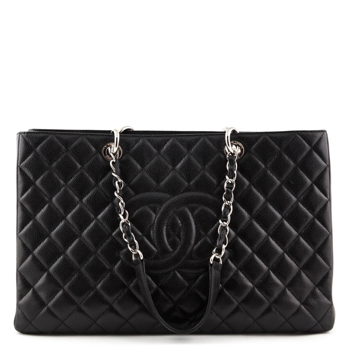 399ed448a8e3 Chanel Black Quilted Caviar XL GST Tote SHW - LOVE that BAG - Preowned  Authentic Designer ...