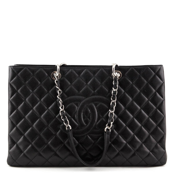 Chanel Black Quilted Caviar XL GST Tote SHW - LOVE that BAG - Preowned  Authentic Designer 6cc164b4a