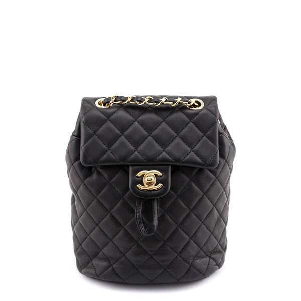 Chanel Black Quilted Lambskin Mini Urban Spirit Backpack