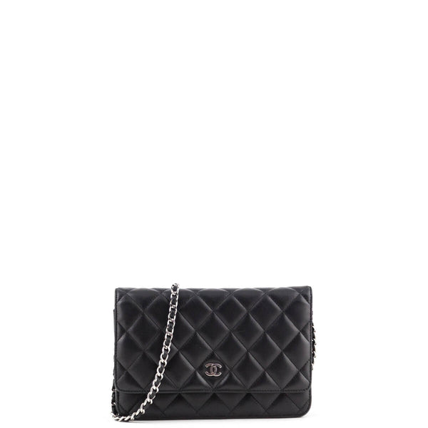 bcc85b54196fe1 Chanel Black Quilted Lambskin Wallet on Chain SHW - LOVE that BAG -  Preowned Authentic Designer