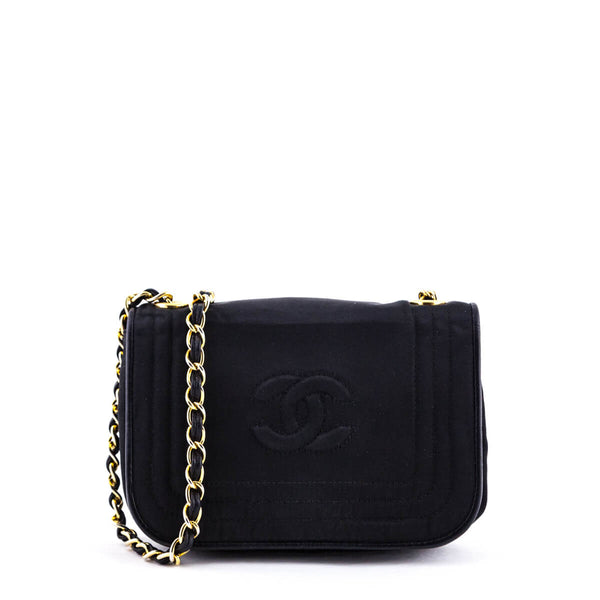 c0745db10632f4 Chanel Black Satin Vintage Mini Flap Bag GHW - LOVE that BAG - Preowned  Authentic Designer