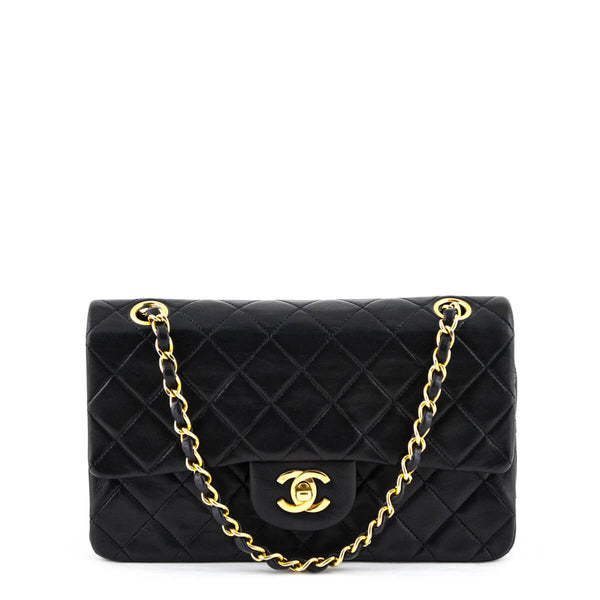 a05b8b789285 Chanel Black Lambskin Vintage Small Double Flap GHW - LOVE that BAG - Preowned  Authentic Designer