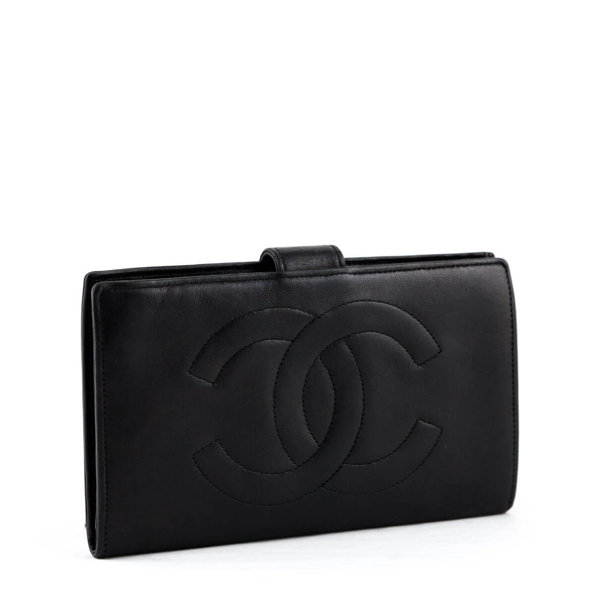 41f37480701af8 ... Chanel Black Lambskin Vintage Timeless French Purse Wallet - LOVE that  BAG - Preowned Authentic Designer ...