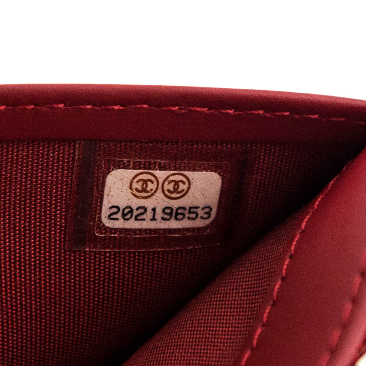 Chanel Bordeaux Patent Quilted Bifold Yen Wallet Chanel