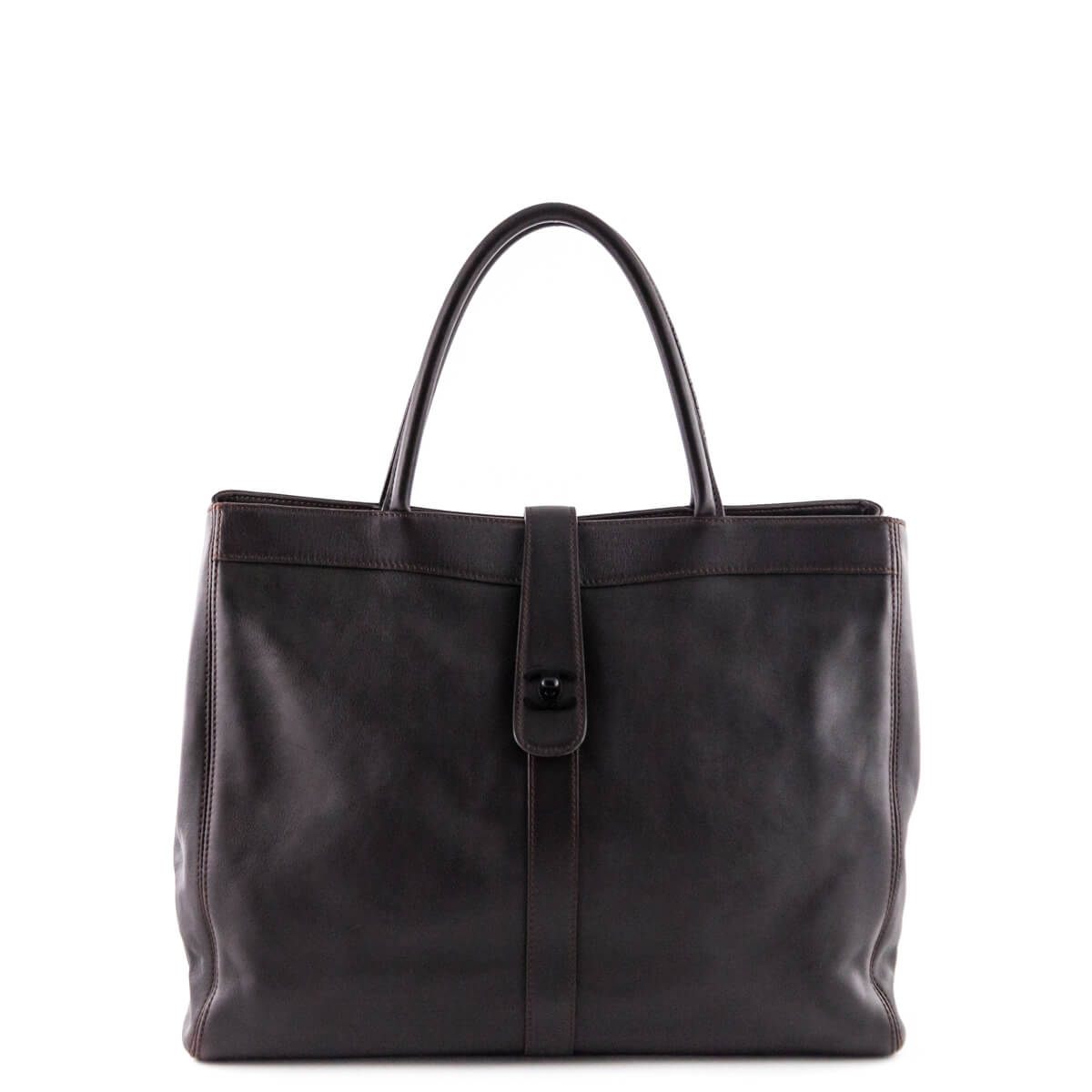 Chanel Brown Calfskin Shopping Tote - LOVE that BAG - Preowned Authentic  Designer Handbags ... bf97a58ef9284