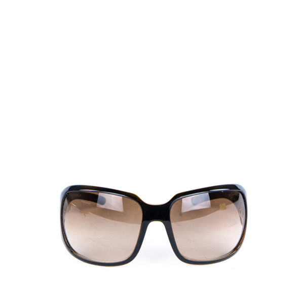 Chanel Brown Oversized CC Shield Sunglasses